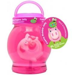 Różowa galaretka do kąpieli dla dzieci