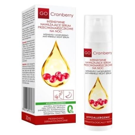 Intensywnie nawilżające serum przeciwzmarszczkowe na noc GO Cranberry