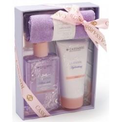 Zestaw kosmetyków lawendowych CASSARDI - balsam + żel + ręcznik