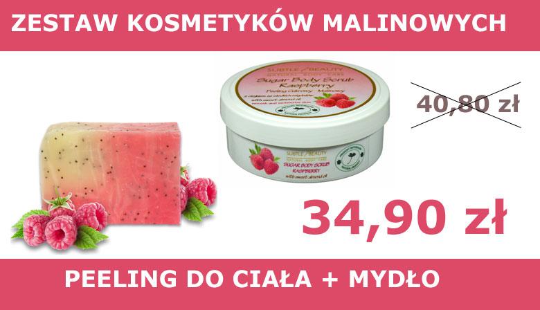 Zestaw kosmetyków malinowych