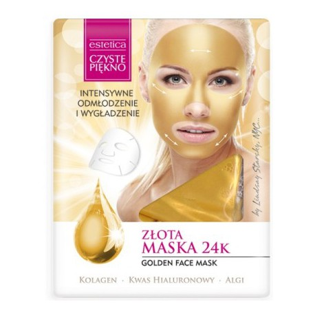 CZYSTE PIĘKNO Złota maska do twarzy