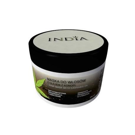 Regenerujaca maska do włosów z olejem konopnym