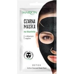 Czarna maska na tkaninie z aktywnym węglem DETOX