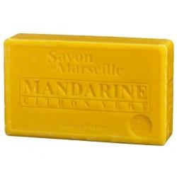 Prostokątne mydło marsylskie z olejkiem migdałowym MANDARYNKA i LIMONKA