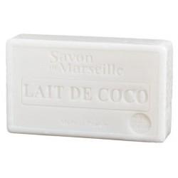 Prostokątne mydło marsylskie z olejkiem migdałowym MLEKO KOKOSOWE