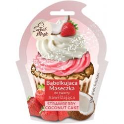 Bąbelkująca maseczka do twarzy STRAWBERRY & COCONUT CAKE
