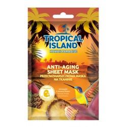 Maska na tkaninie przeciwzmarszczkowa TROPICAL ISLAND HAWAII PARADISE