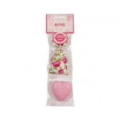 Zestaw woreczek zapachowy i mydło ROSE