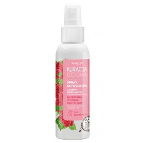 Spray do włosów z octem malinowym