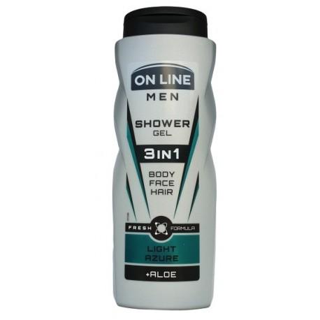 Żel pod prysznic dla mężczyzn ON LINE LIGHT AZZURE