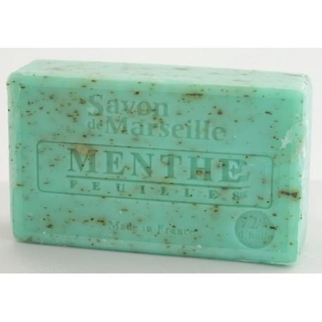 Prostokątne mydło marsylskie z olejkiem migdałowym LISTKI MIĘTY