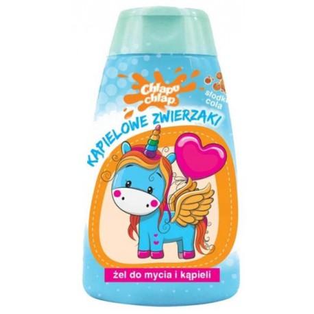 Żel do kąpieli dla dzieci KĄPIELOWE ZWIERZAKI o zapachu coli
