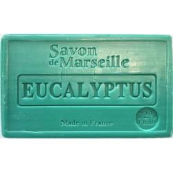 Prostokątne mydło marsylskie z olejkiem migdałowym EUKALIPTUS