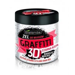 Żel do włosów GRAFFITI 3D bardzo mocny CZARNA RZEPA