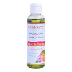 Naturalny olejek do masażu relaksujący - RÓŻA i POMARAŃCZA