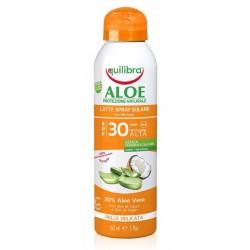 Aloesowe mleczko do opalania w sprayu SPF30 EQUILIBRA