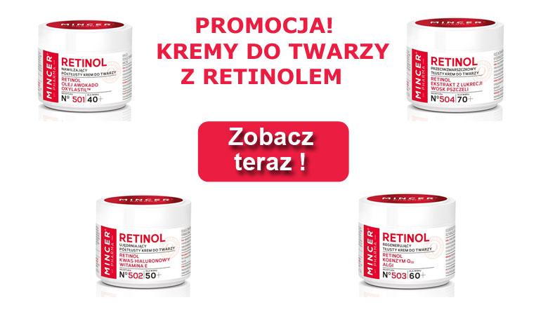 Kremy Mincer z retinolem
