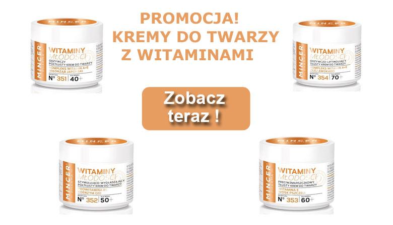 Kremy Mincer z witaminami